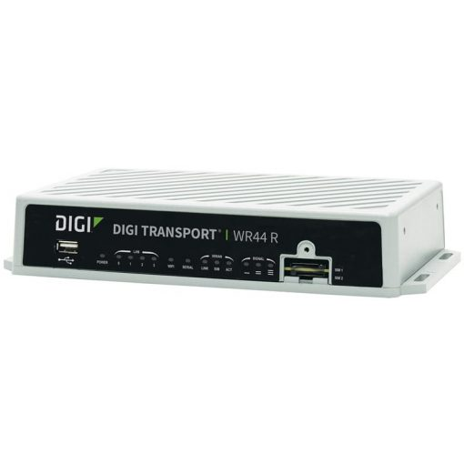 TransPort WR44R - LTE LATAM/ANZ (700/850/900/1500/1800/1900/2100/2300/2500/2600MHz), Fleet I/O, WiFi (A/C),  Enterprise Software Package, 5 VPN Tunnels, Extended Temperature, Rugged Enclosure, DC Power Cable, No  Antennas
